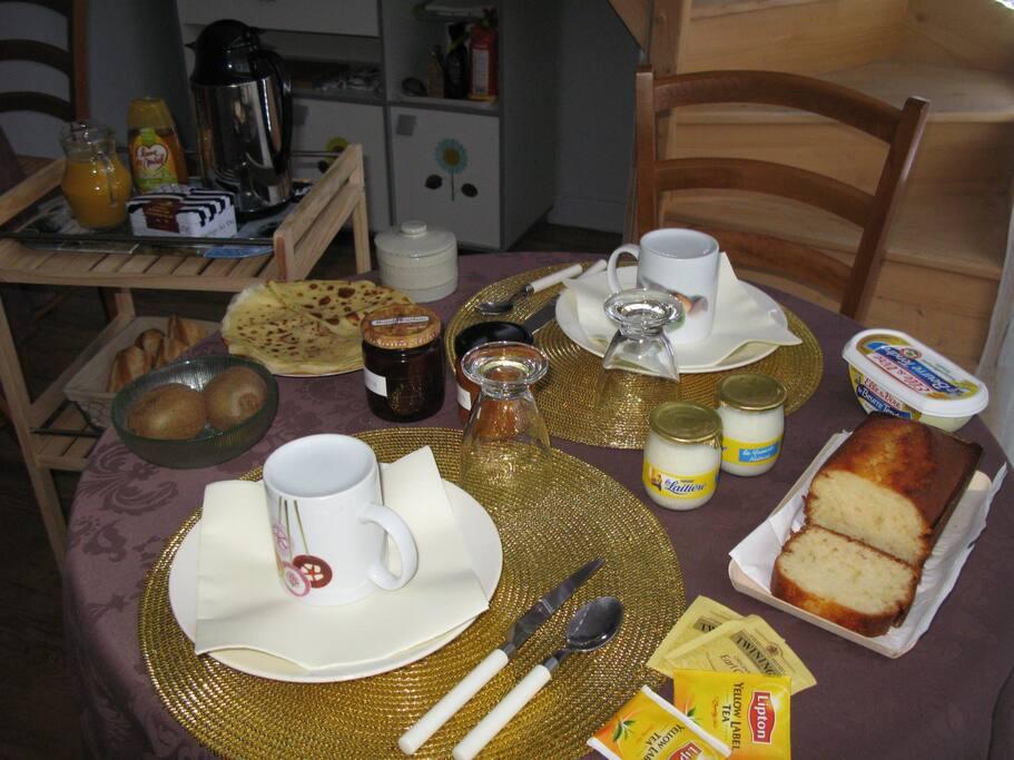 un bon petit déjeuner fait maison