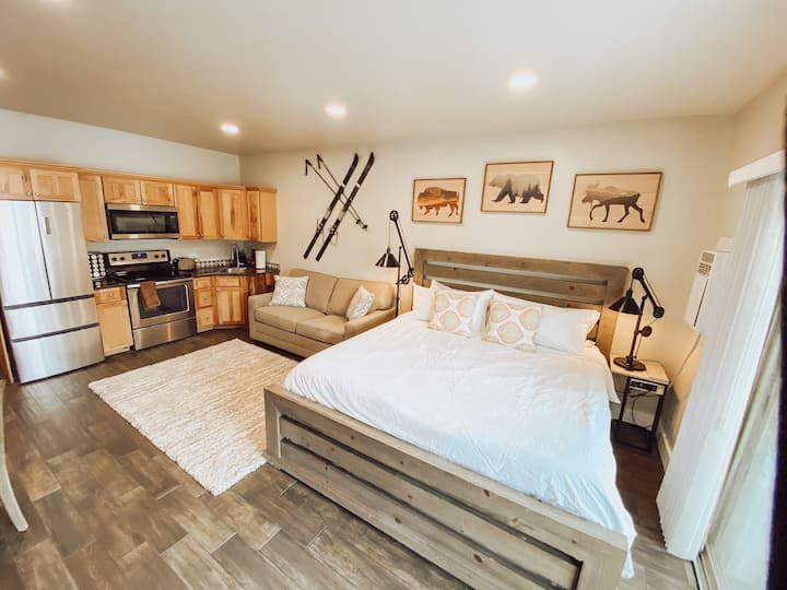 Remodeled studio with kitchen, sleeps 4 guests!