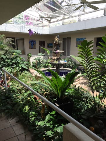 Casa con hermoso jardín interior