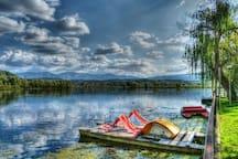 lago di posta fibreno a 3 km dalla villa