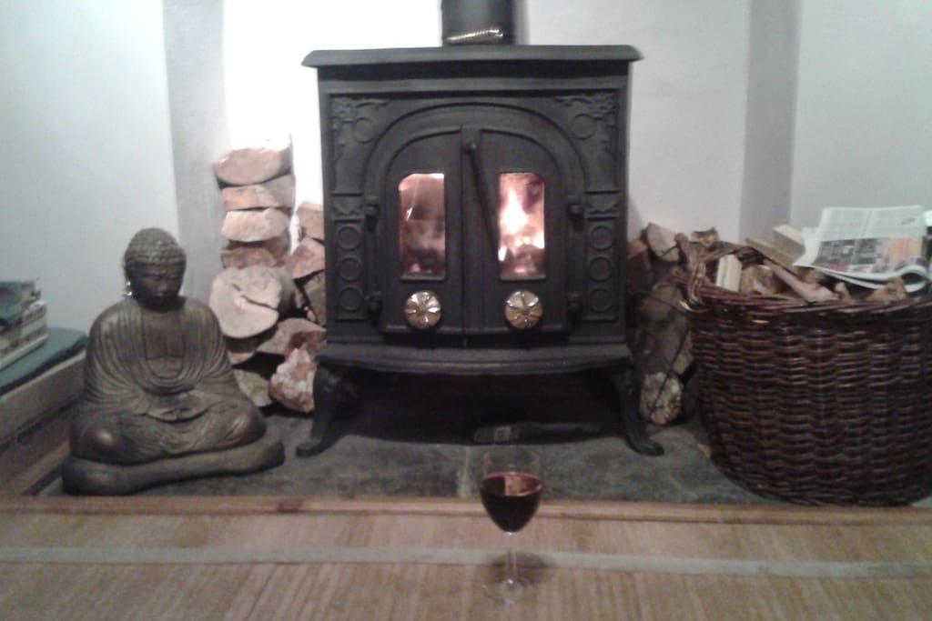 A woodburner to warm those winter nights!