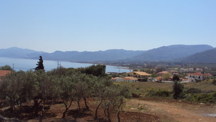 New Friendly House close to Monemvasia with view.