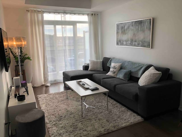 Clean and modern condo - brand new!  Private space