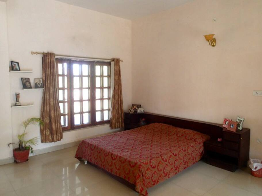 One of the three bedrooms of The Barsana, with attached bathrooms,with running hot and cold water.