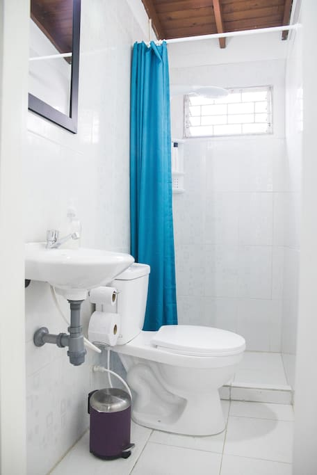 Your private bathroom and shower (Hot water available)