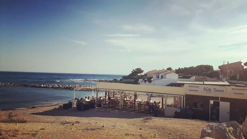 Beau duplex avec jardin,vue sur mer - Sausset-les-Pins - Huoneisto