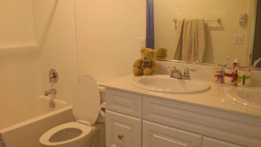 Guest Bathroom with Double Sinks