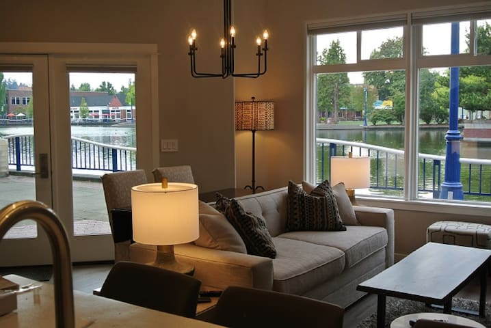 Lake View from Living Room and Entryway; standing at Kitchen Island!