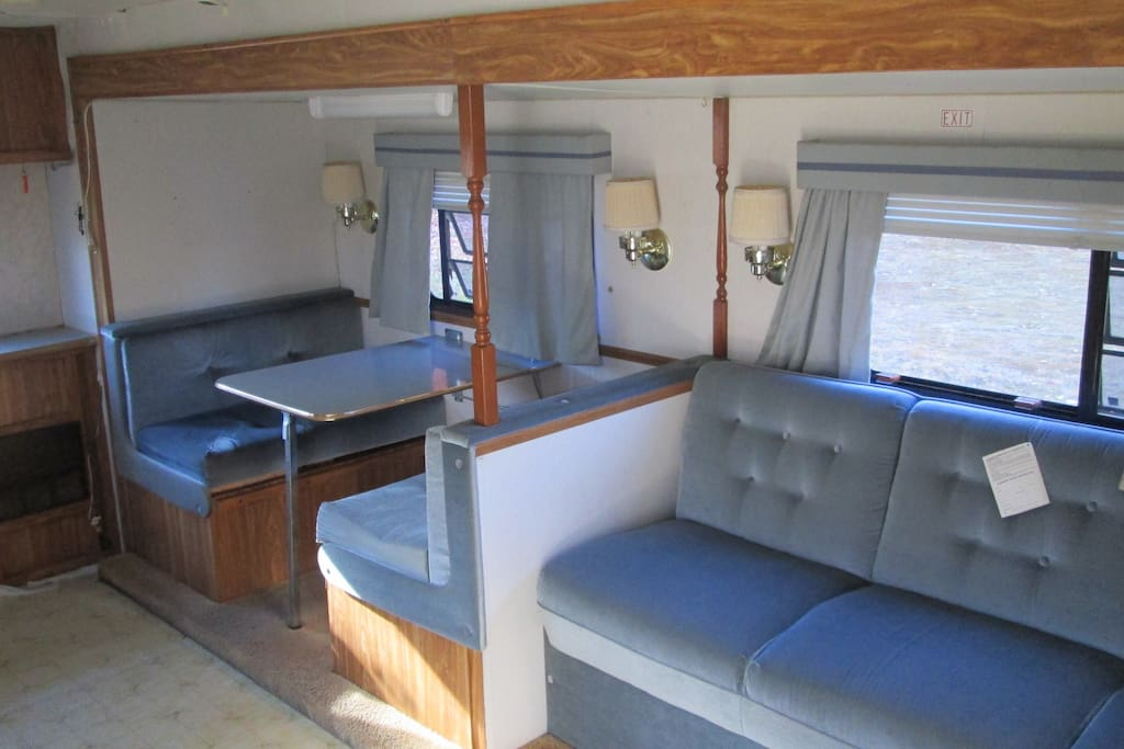 Interior is very clean and spacious, can accommodate up to four people comfortably.