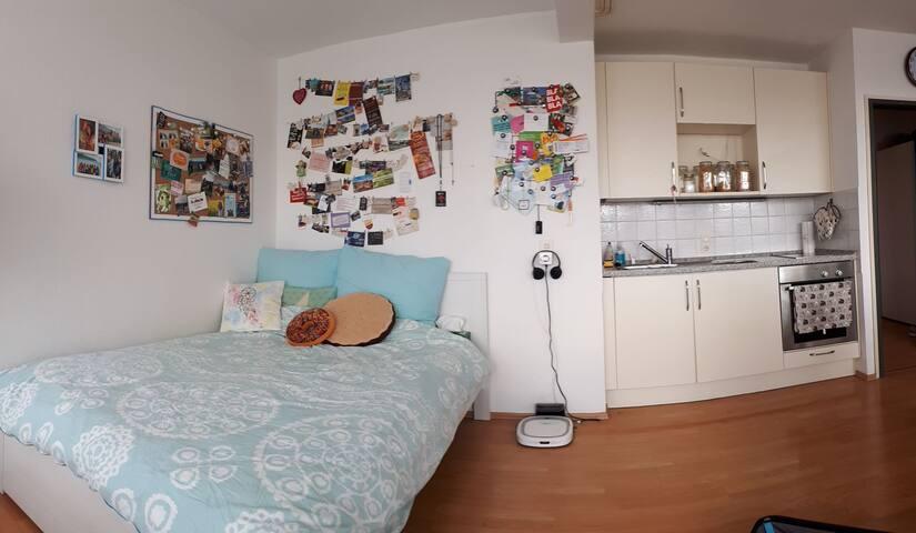 Helles 36qm Apartment mit Balkon