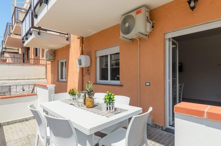 Ganzirri Suite I. rifinito Appartamento + terrazzo
