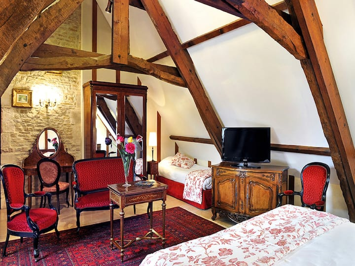 Manoir de Mathan Chambre Junior Suite Triple
