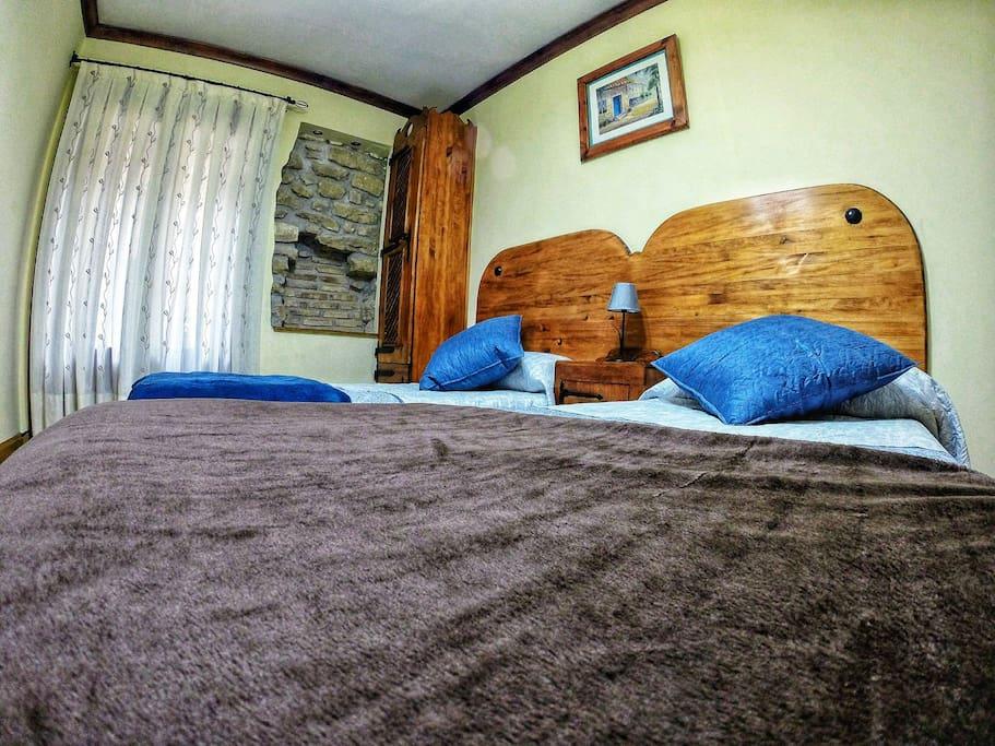 Cómodas y confortables camas.