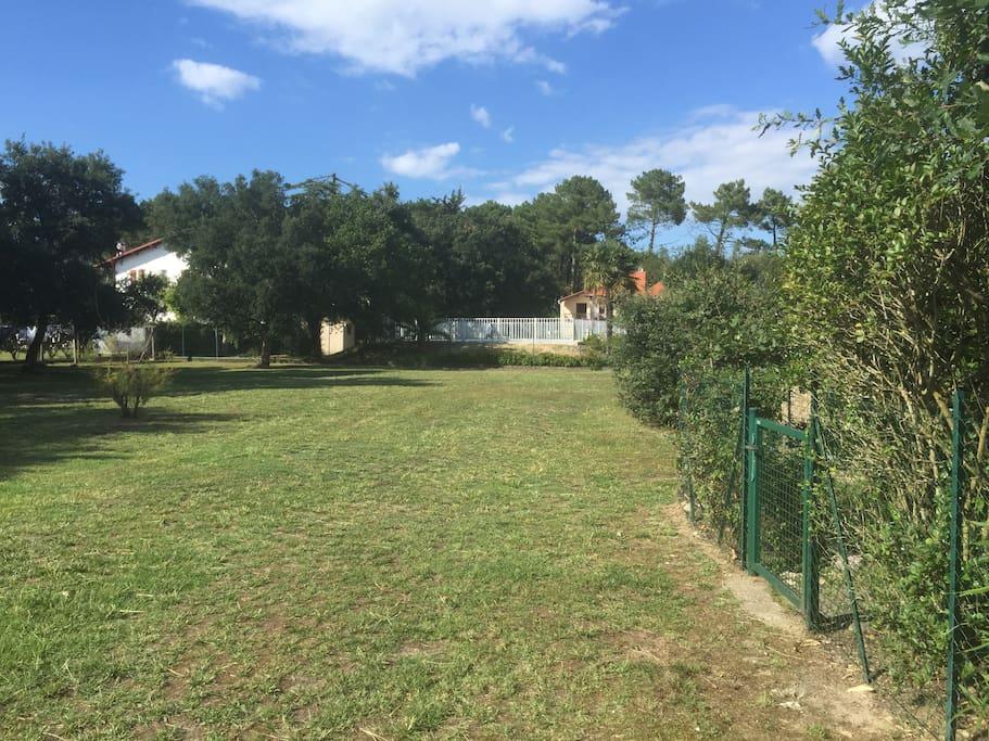 parc de la résidence avec piscine