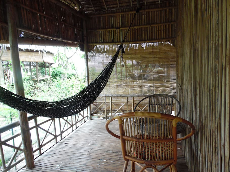 Private Porch with hammock + out door sitting