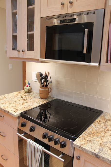 Cooktop and Oven for your cooking and baking needs, and a microwave