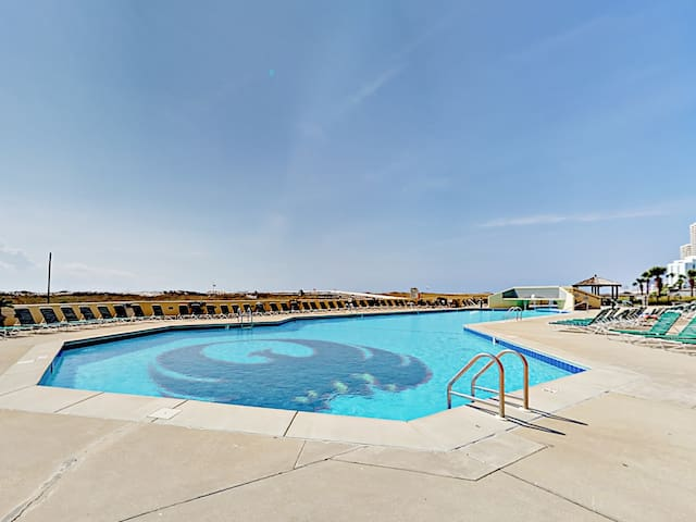 Take a dip in the sparkling community pool!