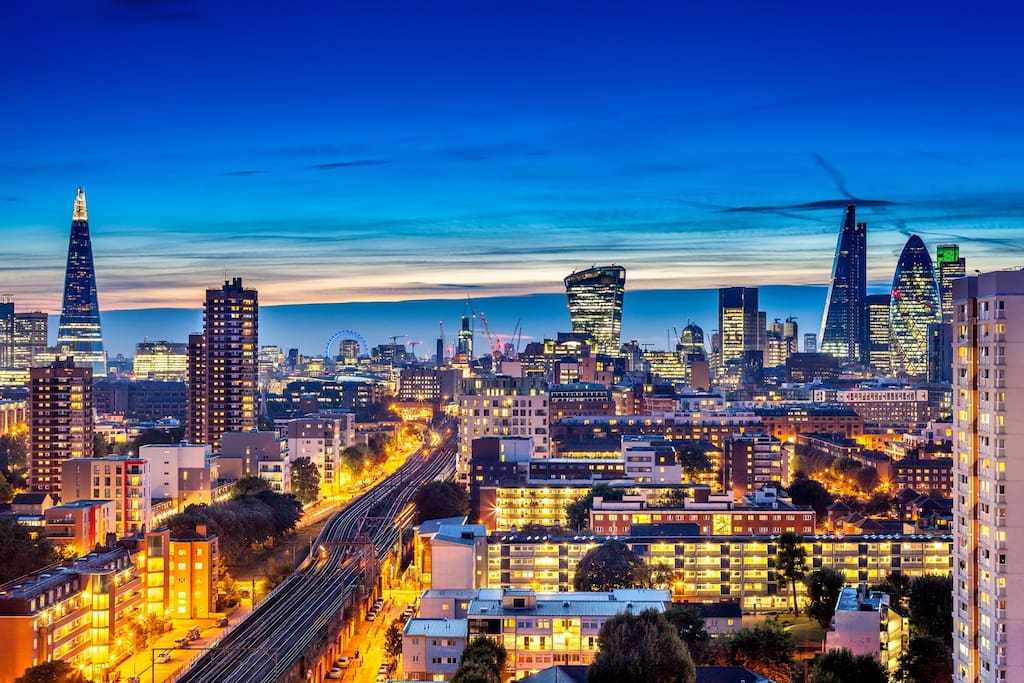 Night Time Views Over London
