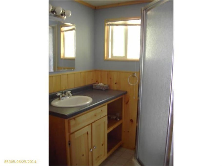 2008 updated bathroom with shower