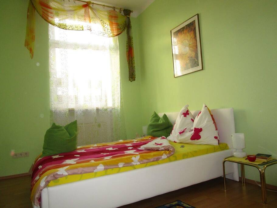 Warm and comfortable bedroom