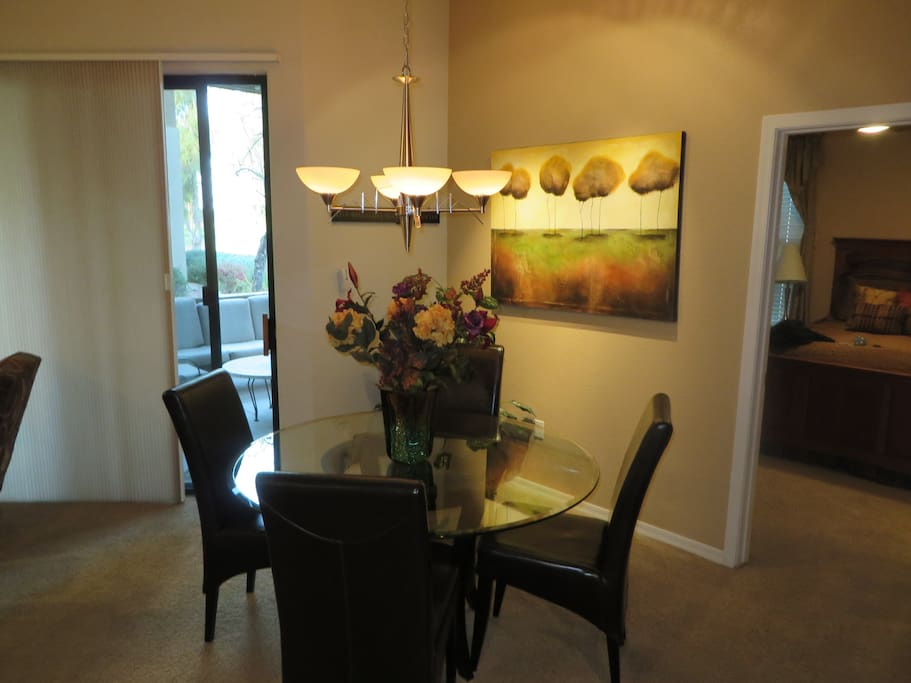 Dining room accommodates six