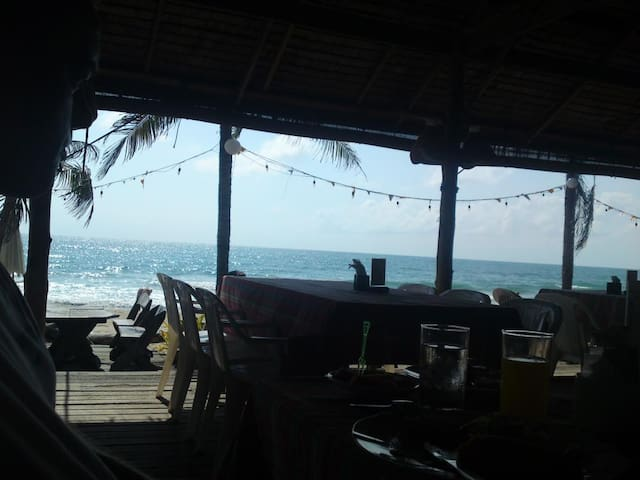 One of many beach restaurants