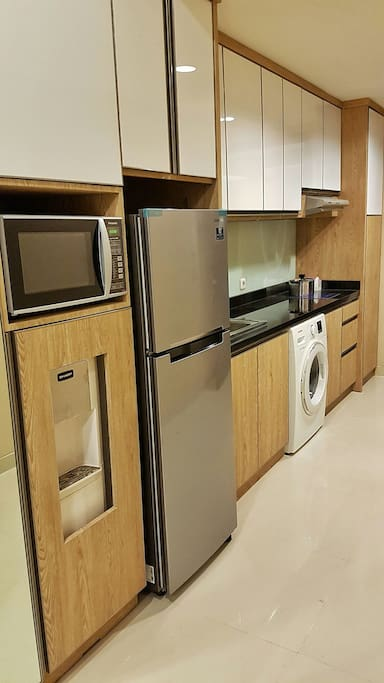 Microwave, Dispenser, Refrigerator and also Washing Machine available