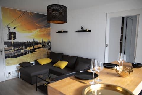 Apartment 45m2, all comfort, 2nd floor, terrace