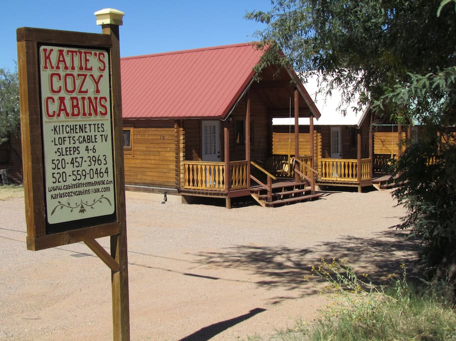 Katie 39 s cozy cabins cabins for rent in tombstone for Cozy cabins rentals