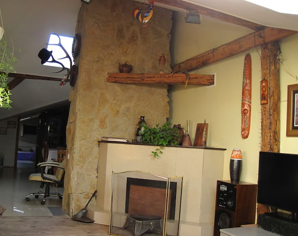 You may also enjoy a fireplace and a sauna in the cold season