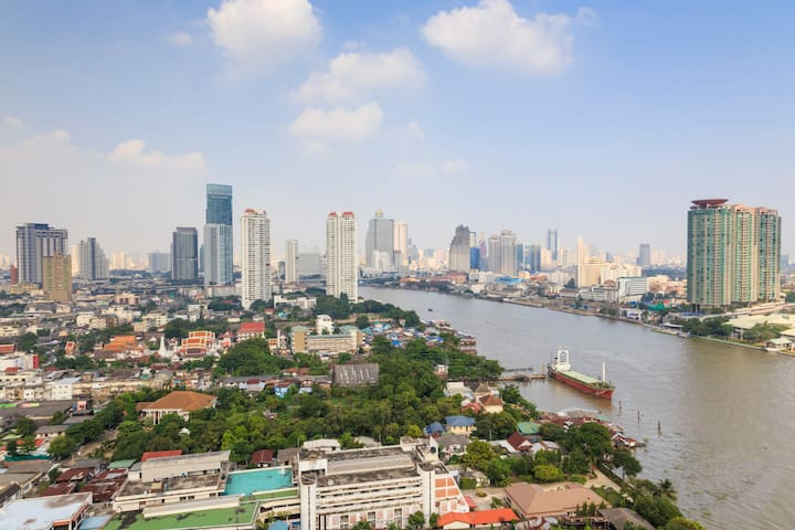 26fl 1BR 52sq.m. Amazing view+Wifi - Bangkok