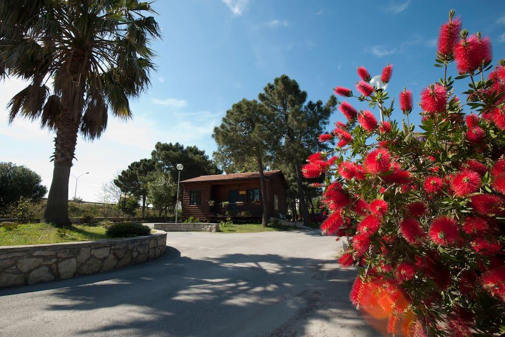 Ingresso Villaggio turistico in cui è ubicata la Villa