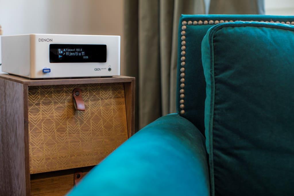 A velvet armchair and good music