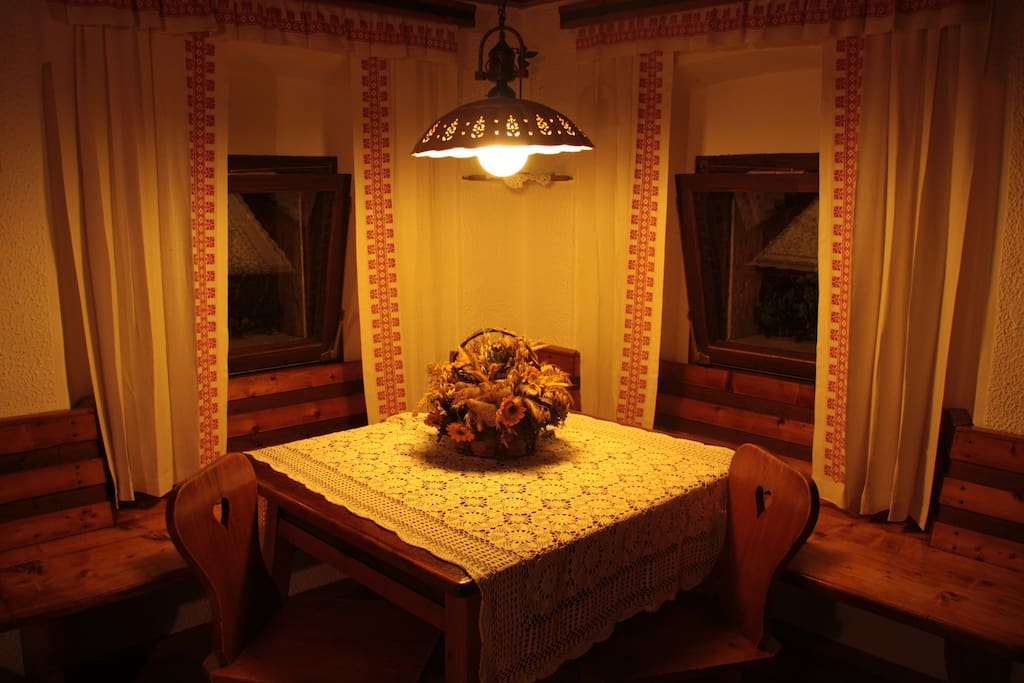 Typical slovenian living room :). Pleace where friends and family meet