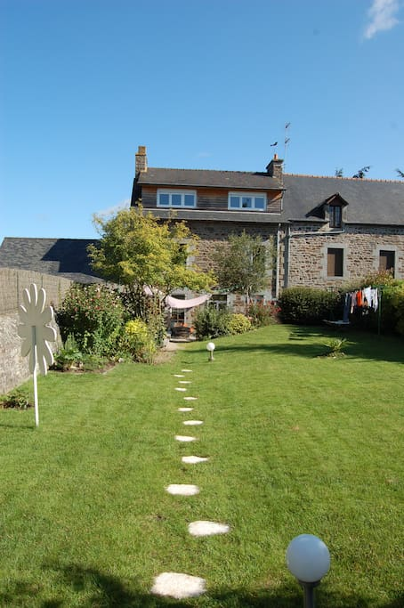 South exposed garden of 400m²