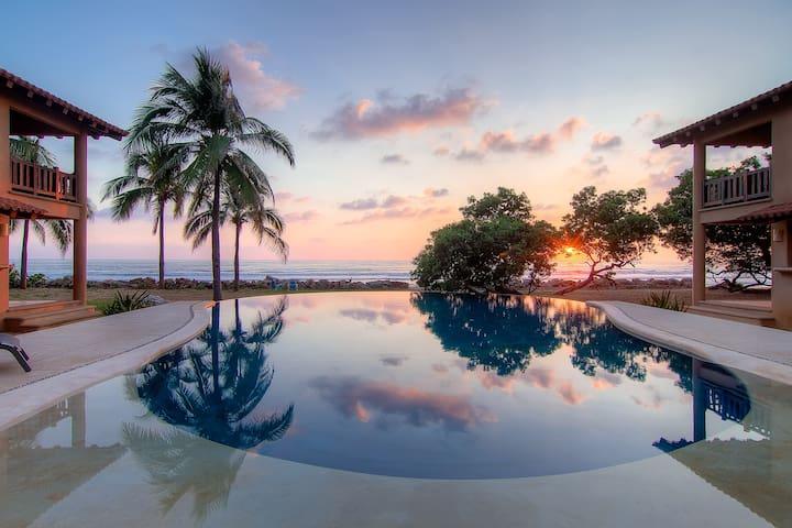 Massive salt water infinity pool.