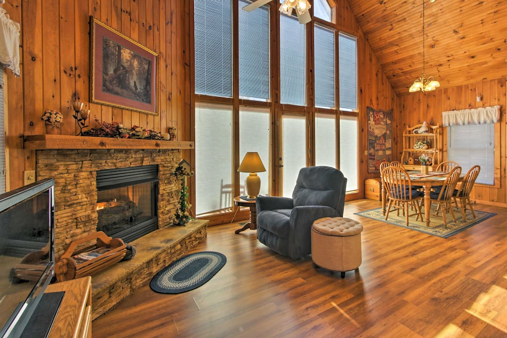 Spread out in 1,875 square feet of living space offering a gas fireplace.