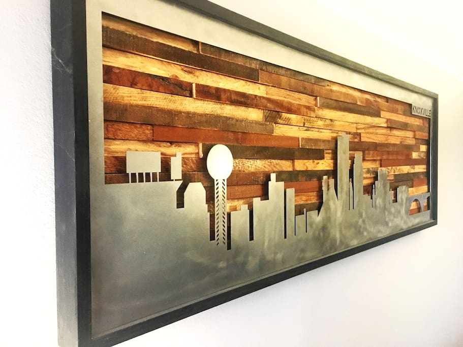 Enjoy the custom made Knoxville skyline artwork!