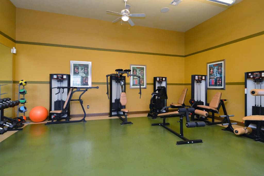 State-of-the-art Fitness center accessible 24hrs