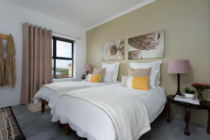 Self-Catering Unit with 2 separate Rooms photo 6 Main bedroom, kingsize beds or single beds, own tv with full package dstvl