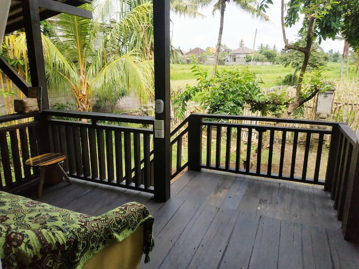 Cozy new house in rice fields, 2 br, garden, view