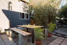 Shared outdoor area.