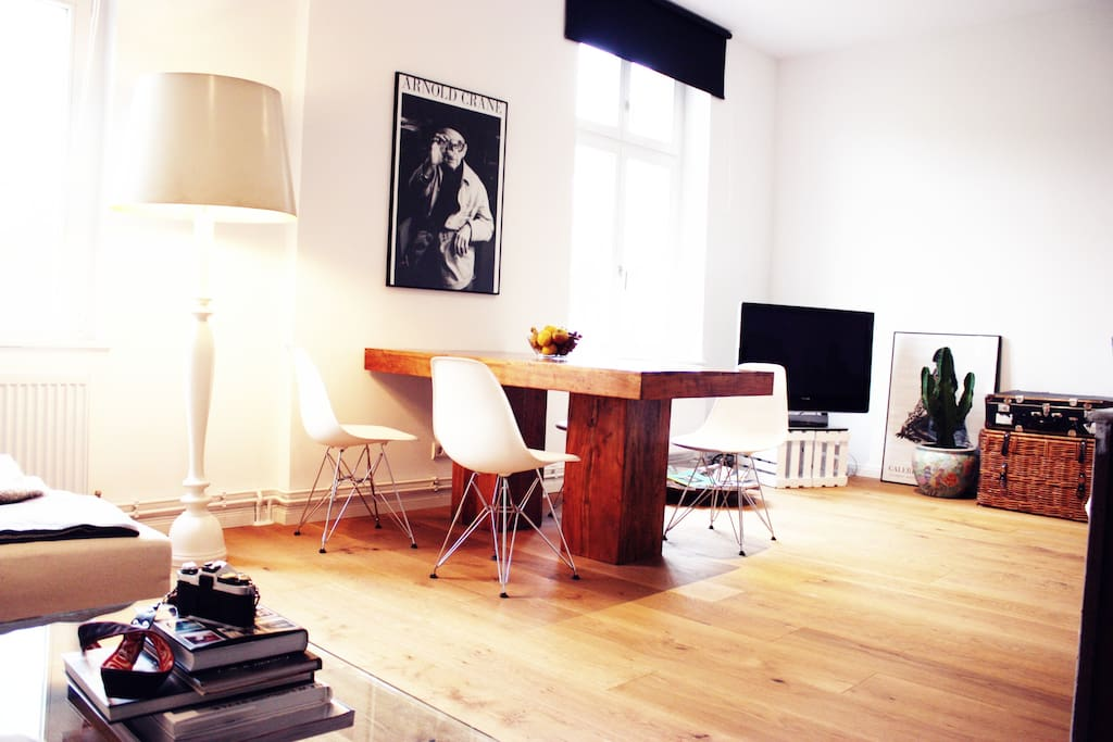 The bright and open living room