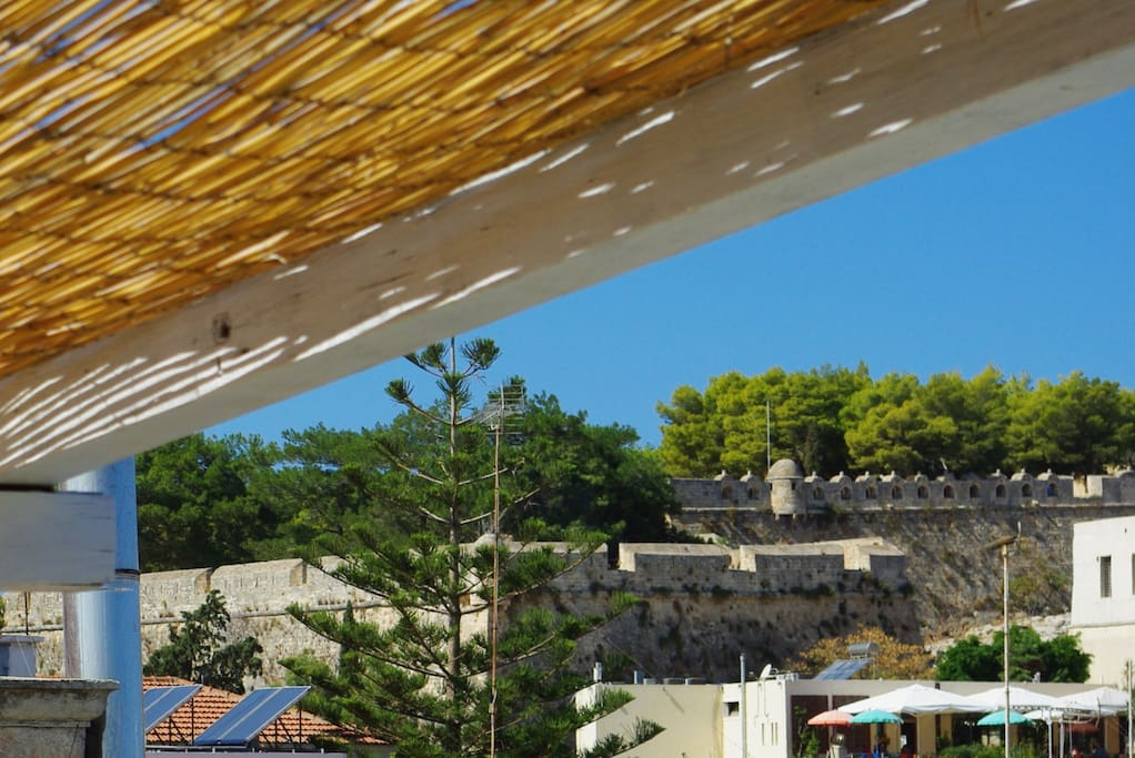 Rethymno Castle as seen from our roof garden!