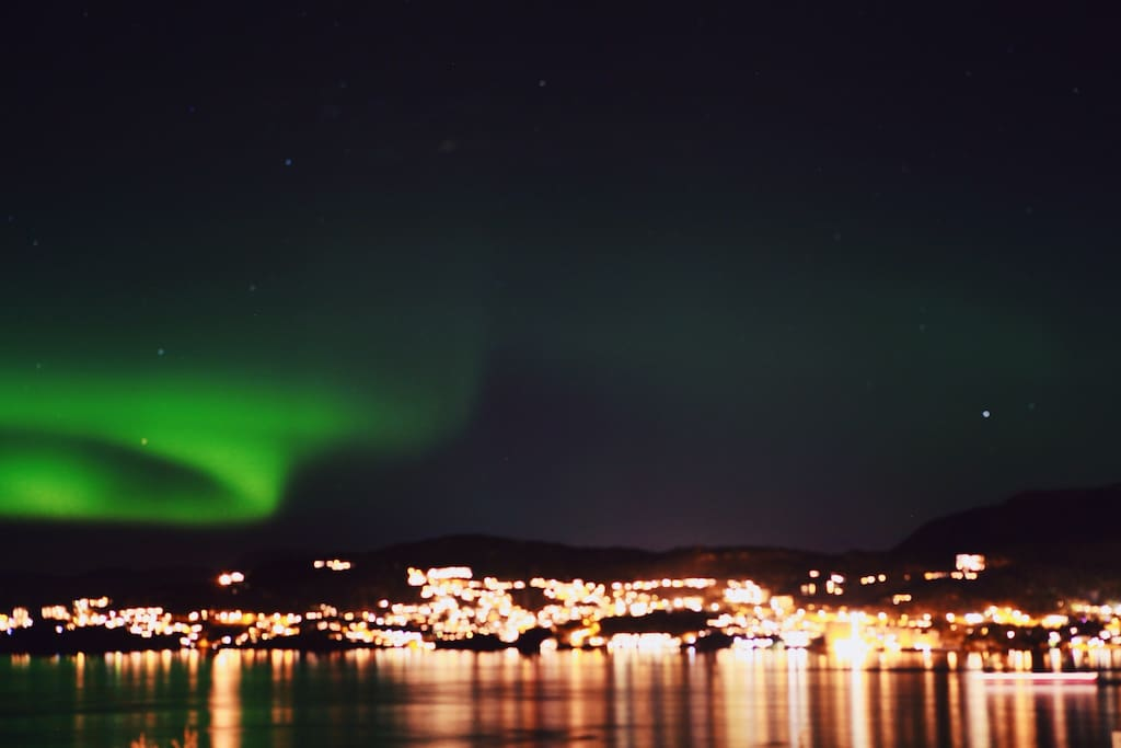 It is possible to see aurora in our backyard. :)