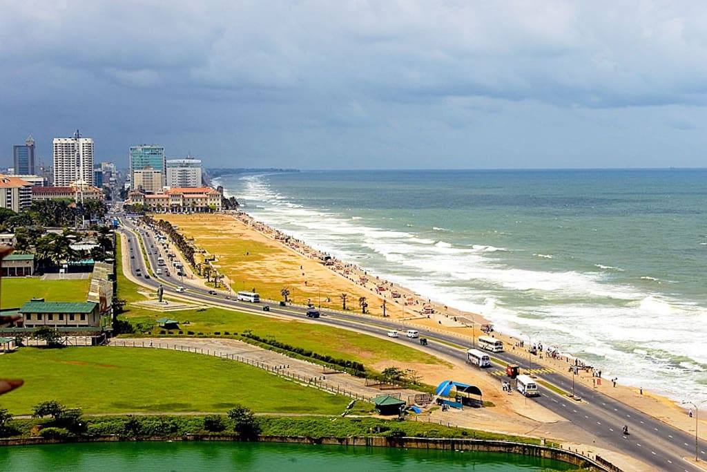 Galle Face Esplanade, has a direct view from the apartment