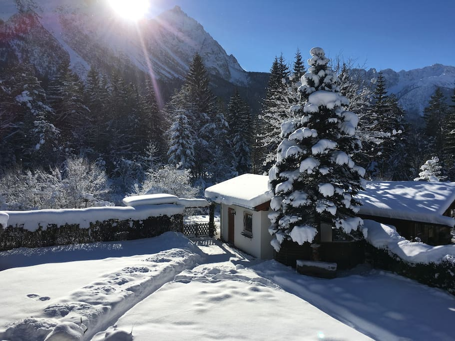 Winter view from the first floor terrace.