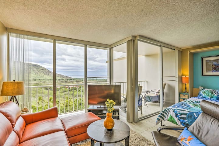 Floor-to-ceiling windows fill the condo with beautiful natural light.