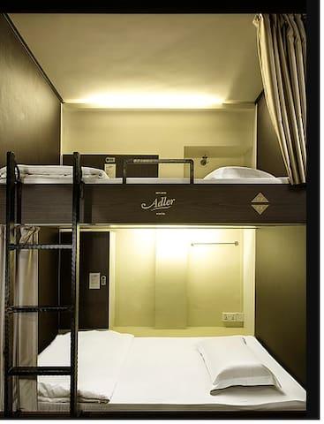 Luxury hostel with in-cabin locker - Single mixed