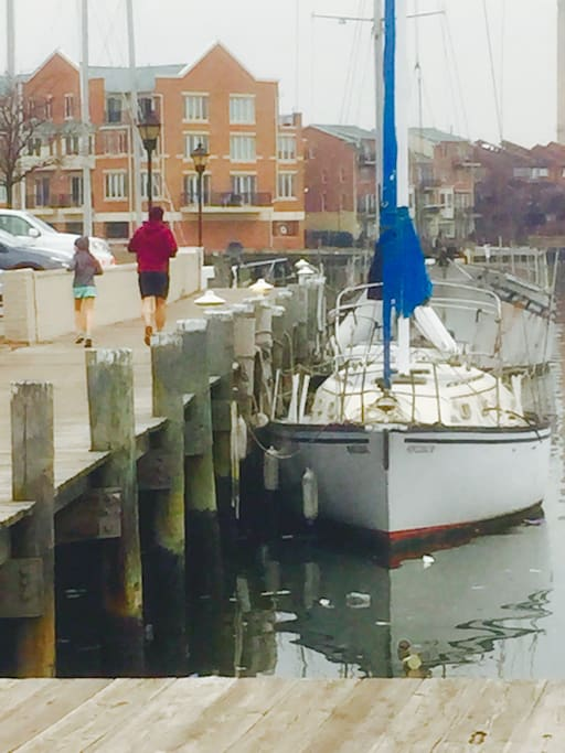 Great for exercise and right out your door - Fells Point promenade .  Take the bikes out for a ride!